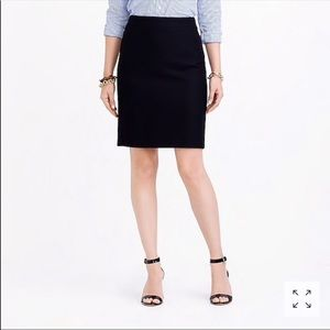 J. Crew The Pencil Skirt wool blend zip up lined